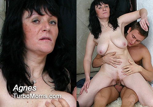 Big tits mature Agnes in HD porn video