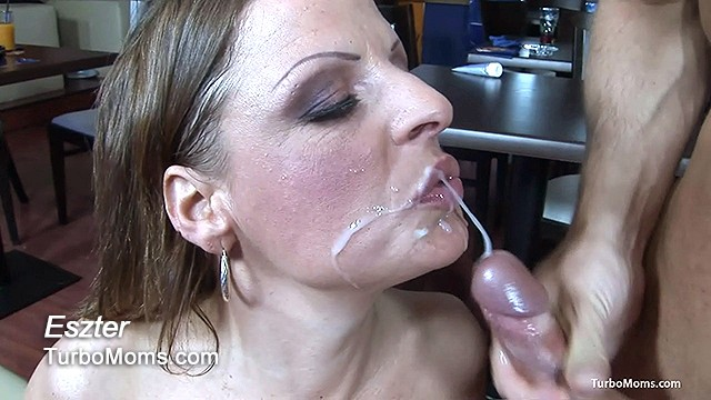 Hungarian mature receives a messy facial