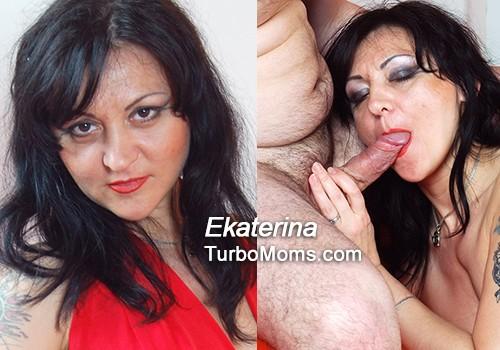 Russian mature Ekaterina in kinky porn video